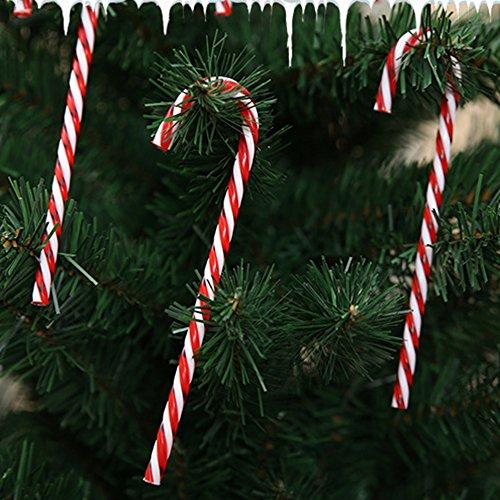 (Mokylor Christmas Crutch Plastic Candy Cane Ornaments Christmas Tree Hanging Decorations 12 Pcs)