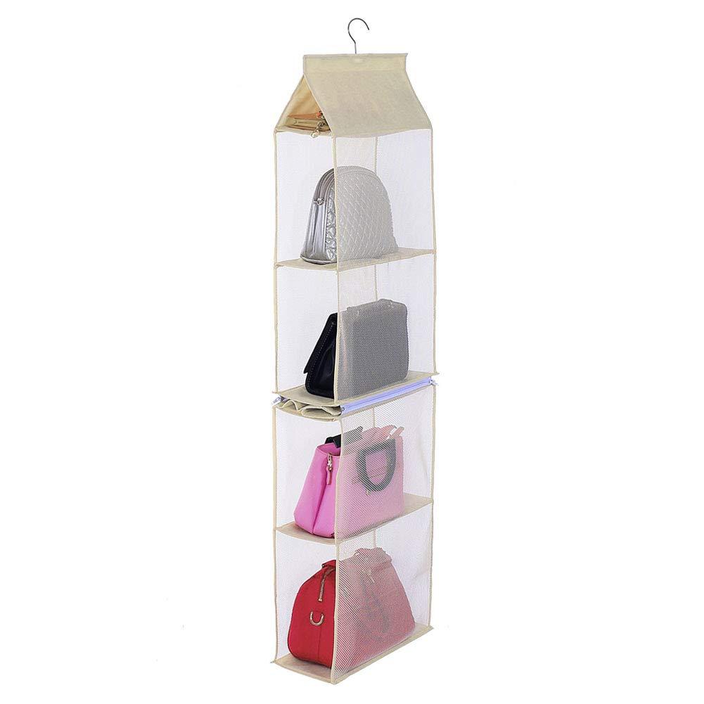 Beige BeneAlways Detachable Purse Organizer Handbag Storage Hanging Bag Closet Space Saver
