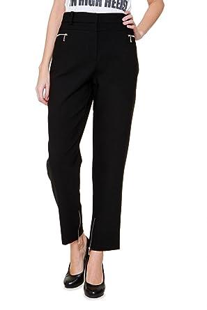 17af1233a3 Luisa Spagnoli Pants Rosalia, Color Black, Size: 44: Amazon.co.uk: Clothing