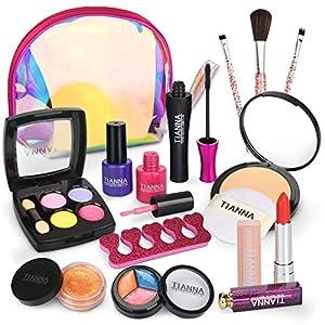 Dreamon Maquillage Enfant Jouet pour Fille, Kit de Makeup Lavable Enfant Non Toxique Con Trousse Maquillage Enfant…