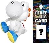 White Yoshi: ~6'' Super Mario Bros Mini-Plush + 1 FREE Official Super Mario Bros Fun Card Bundle