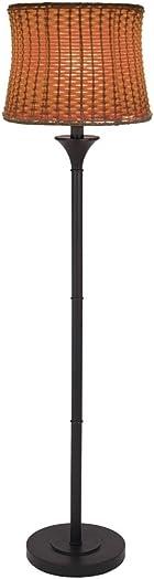 59.5″H Outdoor / Indoor Basketweave Floor Lamp