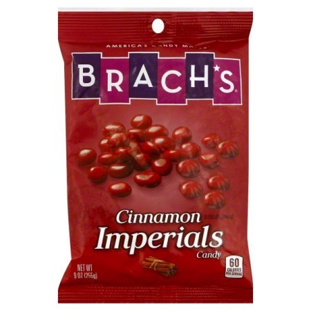 - Brach's Cinnamon Imperials Candy 9 Oz Bag (Pack of 2 Bags) (18 Ounces Total Weight)