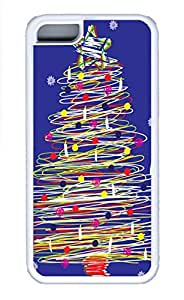 Cases For iPone 5C - Summer Unique Cool Personalized Design Simple Christmas Tree