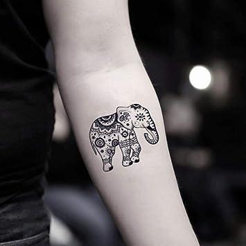 Tatuaje Temporal de Elefante tribal (2 Piezas) - www.ohmytat.com ...