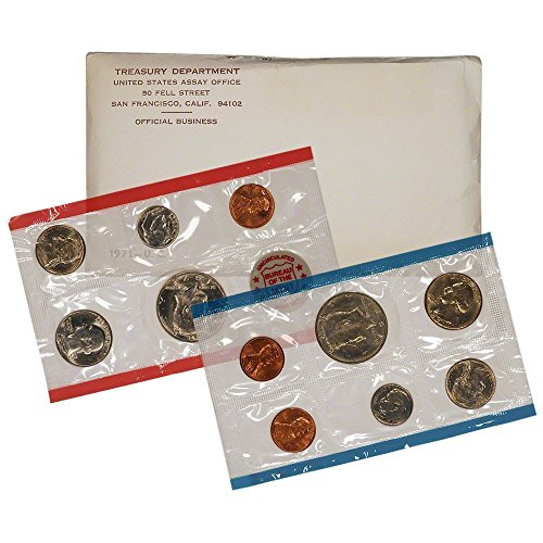 1971 PD&S US Mint Uncirculated Coin Mint Set Sealed Unicirculated ()