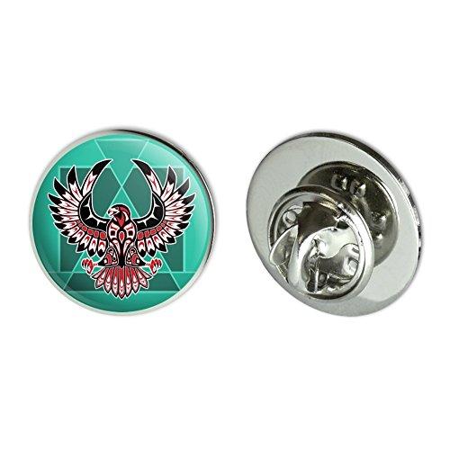 """Black Hawk Native American Design Style Metal 0.75"""" Lapel Hat Pin Tie Tack Pinback"""