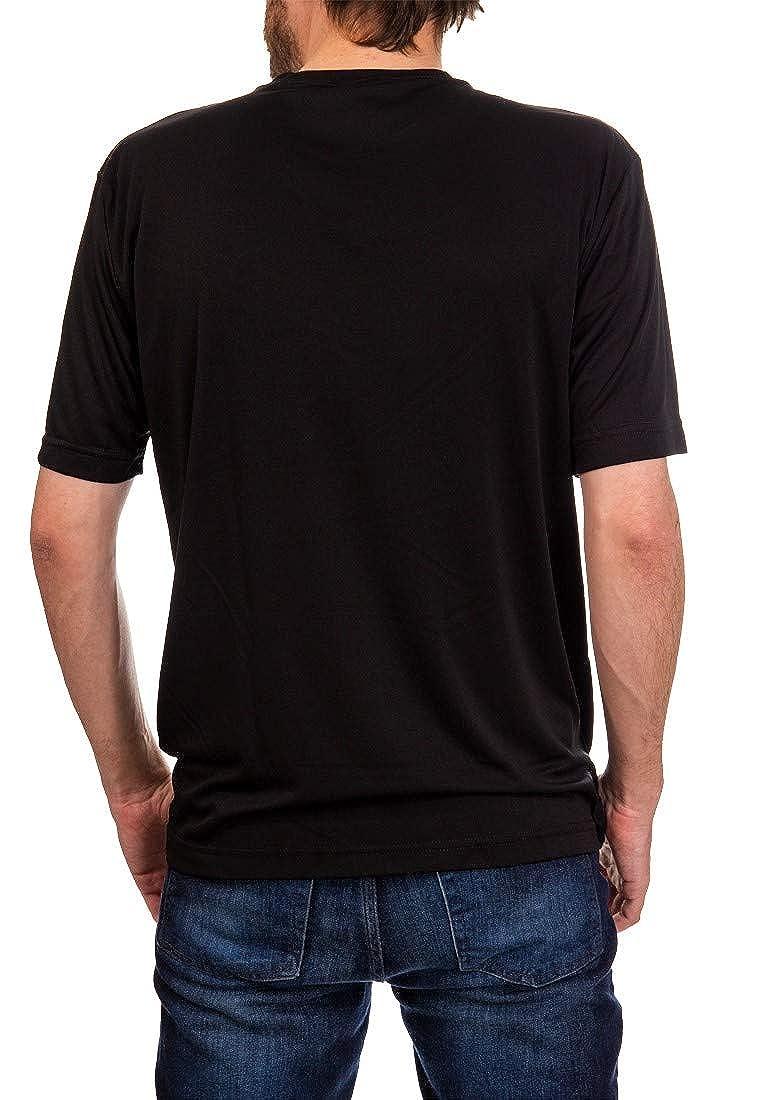 NHL Mens Loose Fit Performance Rashguard Wicking Short Sleeve Shirt