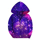 SAYM Big Girls' Youth Galaxy Teen Fleece Full Zip Jackets Pullover Hoodies NO17 M