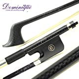 D Z Strad Top Black Mongolia Horsehair French Carbon Fiber Double Bass Bow-1/2