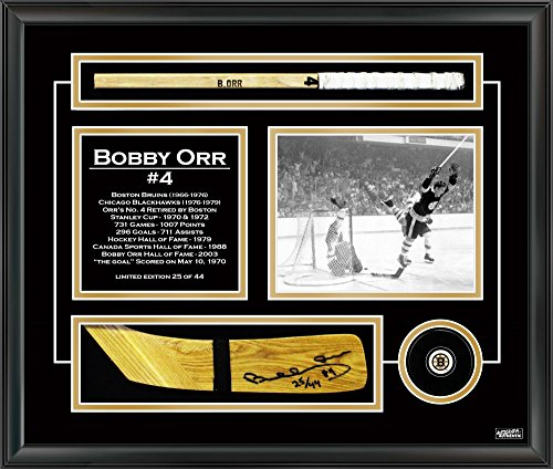 - Autographed Bobby Orr Hockey Stick Blade - Museum Framed - Limited Edition of 44 - Autographed NHL Sticks