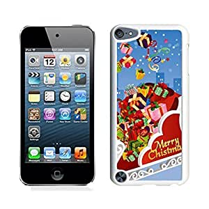 Ipod 5 Cases,Colorful Christmas Gift Box White Hard Shell Plastic Apple Ipod Touch 5th Cases