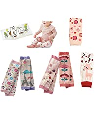 Lucky staryuan ® Black Friday 6-pack Baby & Toddler Leg Warmers Baby Shower Gifts Set