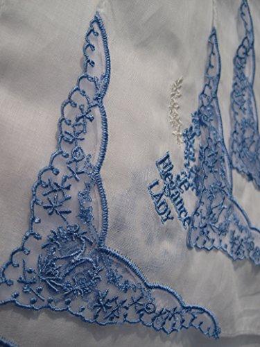 10pièces par emballage cadeau 27,9x 27,9cm coton Mouchoirs, mouchoirs Lady Élégant avec bords en dentelle coton handkerhiefs