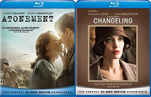 Changeling & Atonement Blu Ray 2 Pack Love & Drama Thriller Movie Set