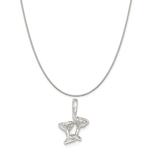 16-20 Mireval Sterling Silver Engravable Heart Disc Charm on a Sterling Silver Chain Necklace
