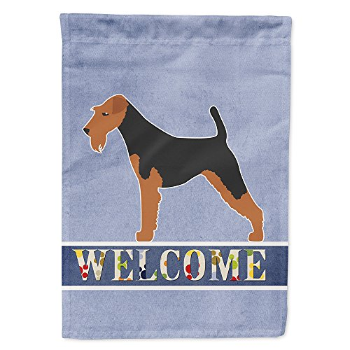 Caroline's Treasures BB5561GF Airedale Terrier Garden Size Welcome Flag, Small, Multicolor