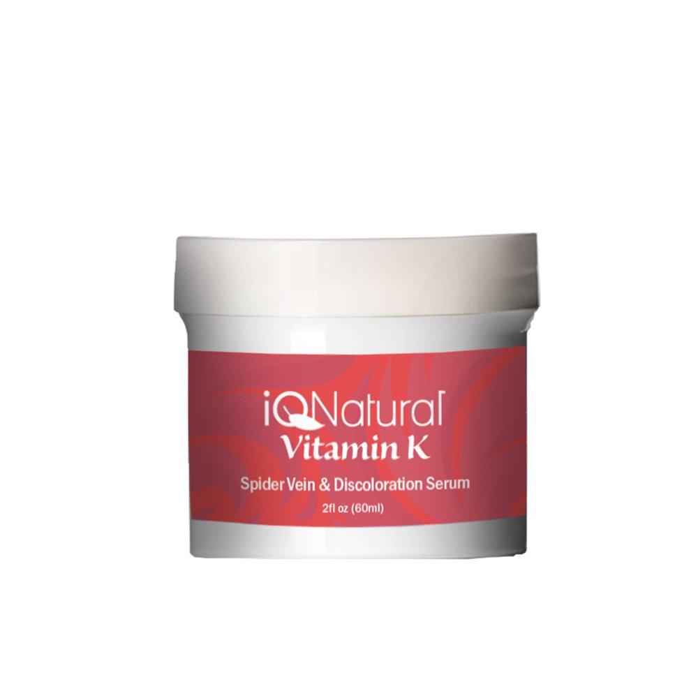 Premium - 2oz Vitamin K Serum to Diminish Varicose Veins, Spider Veins, Broken Capillaries and Age Spots