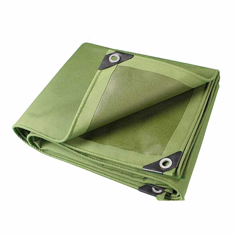 DALL ターポリン キャンバス アーミーグリーン 厚い 防水 サンシェード 暖かい 日焼け止め タープ 様々なサイズ (色 : 緑, サイズ さいず : 5×6m) 5×6m 緑 B07KXF64RS