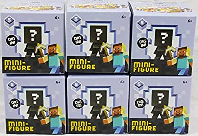 Bundle of 6: Minecraft Ice Series Blind Box Mini-Figure Series 5
