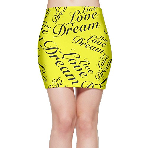 Live Love Dream Women Sexy High Waisted Mini Short Skirts by SKIRTS WWE