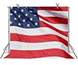 FUERMOR 7x5ft Enlarge The American Flag Photography Backdrop Studio Independence Day Photo Props M233