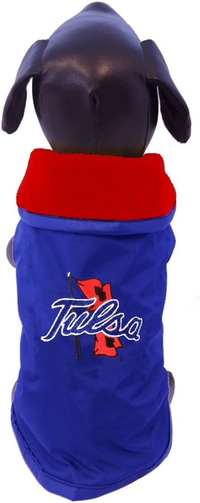 NCAA Tulsa Golden Hurricane All Weather-Resistant Protective Dog Outerwear X-Large