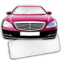 Zone Tech Nylon Windshield Magic Sunshade - Premium Quality Super Jumbo Nylon Reflective Car Magic Sunshade