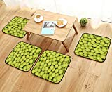 UHOO2018 Fillet Chair Cushion heap of Tennis Balls Isolated on White Background Suitable for The Chair W13.5 x L13.5/4PCS Set