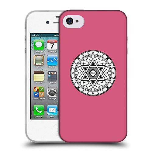 GoGoMobile Coque de Protection TPU Silicone Case pour // Q09680614 Mystique occulte 17 Rougir // Apple iPhone 4 4S 4G