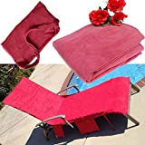 KING DO WAY Lounge Chair Beach Towel Microfiber Pool Lounge Chair Cover with Pockets Holidays Sunbathing Quick Drying Towels Pink 83''x30''