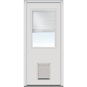 National Door Company ZA00229 Steel, Primed, Left Hand Inswing, Exterior  Prehung Door,