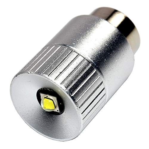 HQRP Ultra Bright 300Lm High Power 3W LED Conversion Upgrade Bulb for Maglite Magnum Star II 2 Replacement fits Mag-Lite 3-4-5-6 D/C, 3-6 D C Cell Lanterns Flashlights Torchs 3.2v ()