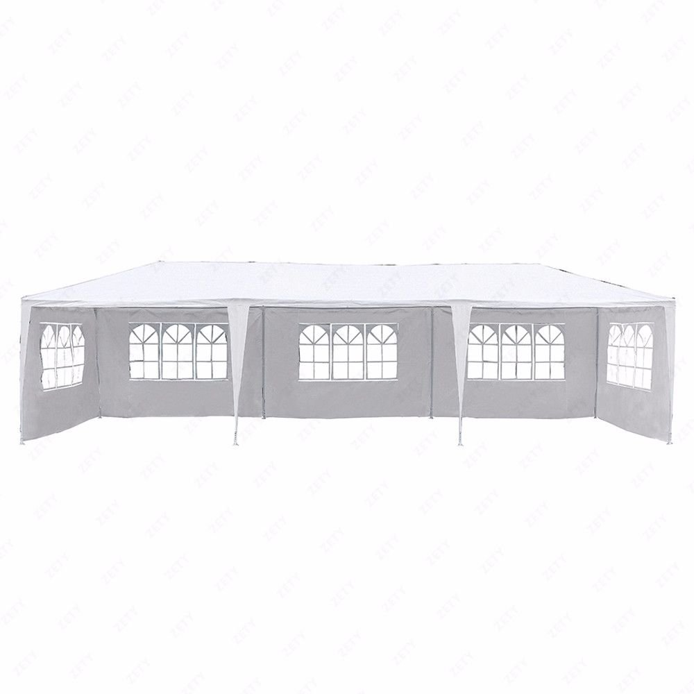 10'x30' White Outdoor Gazebo Canopy Party Wedding Tent 5 Sidewalls Removable Walls (Green) yis-henson