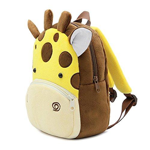 Plush Animal Backpack (BJYOYO Cute Animal Toddler Baby Backpack Plush Toy Backpack Travel Bag for 2-5)