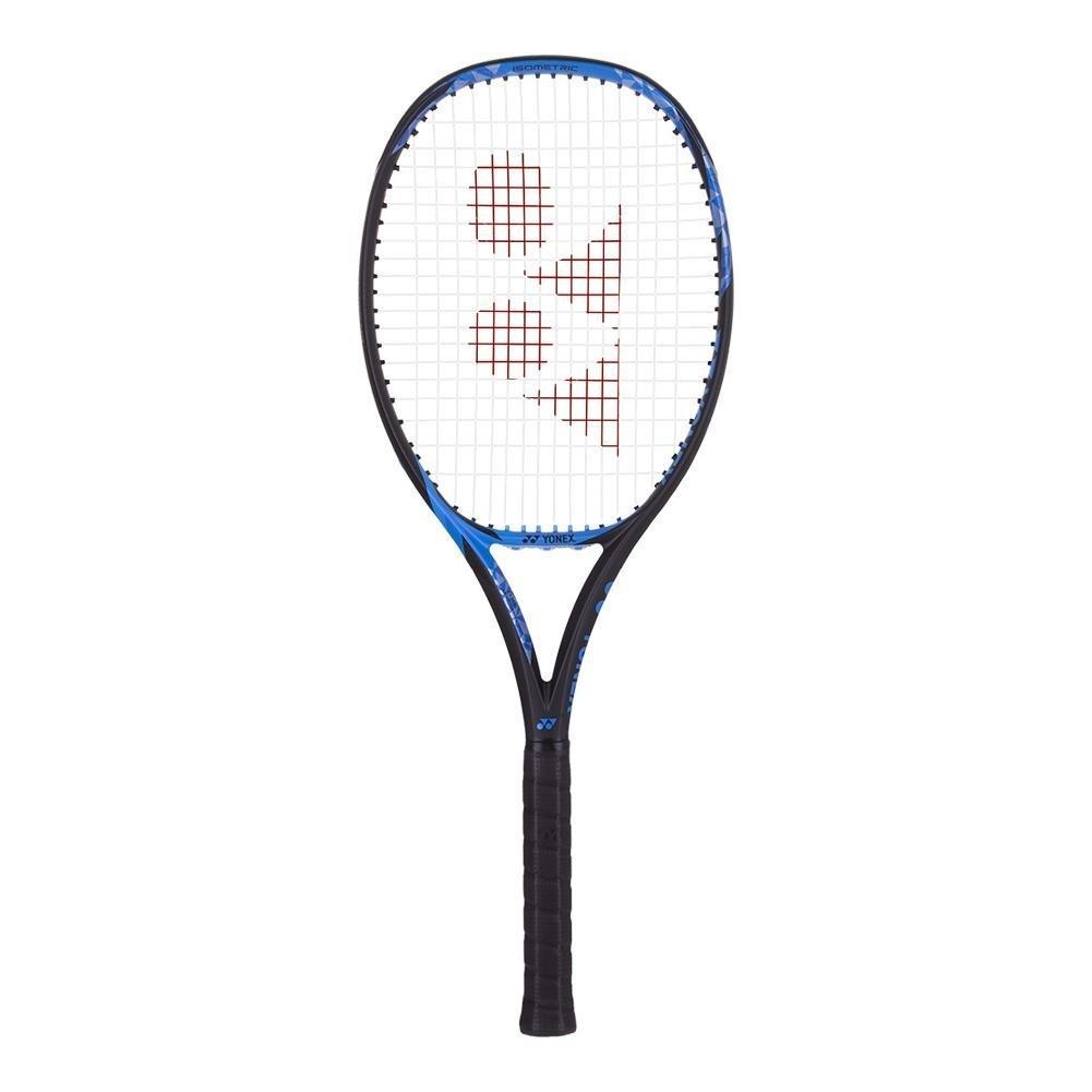 ヨネックスEZONE 100 + (Plus AKA拡張長) 305 GブルーテニスラケットStrung withカスタム文字列色ニックKyrgios 'ラケット) 4 3/8\ White String B07CQ7SDB8