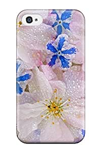 YroEeVz14637eUtSn Lauruerrero Floating Blossoms Beautiful White Wet Drops Nature Flower Feeling Iphone 4/4s On Your Style Birthday Gift Cover Case