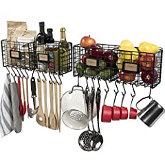 The Ultimate Solution to Keeping Your Kitchen Neat and Tidy, Perfect for Disorganized and Clumsy People to Work More Productively... Endless Possibilities: The organizational wire racks are great entryway and garage organizers, you can hang y...