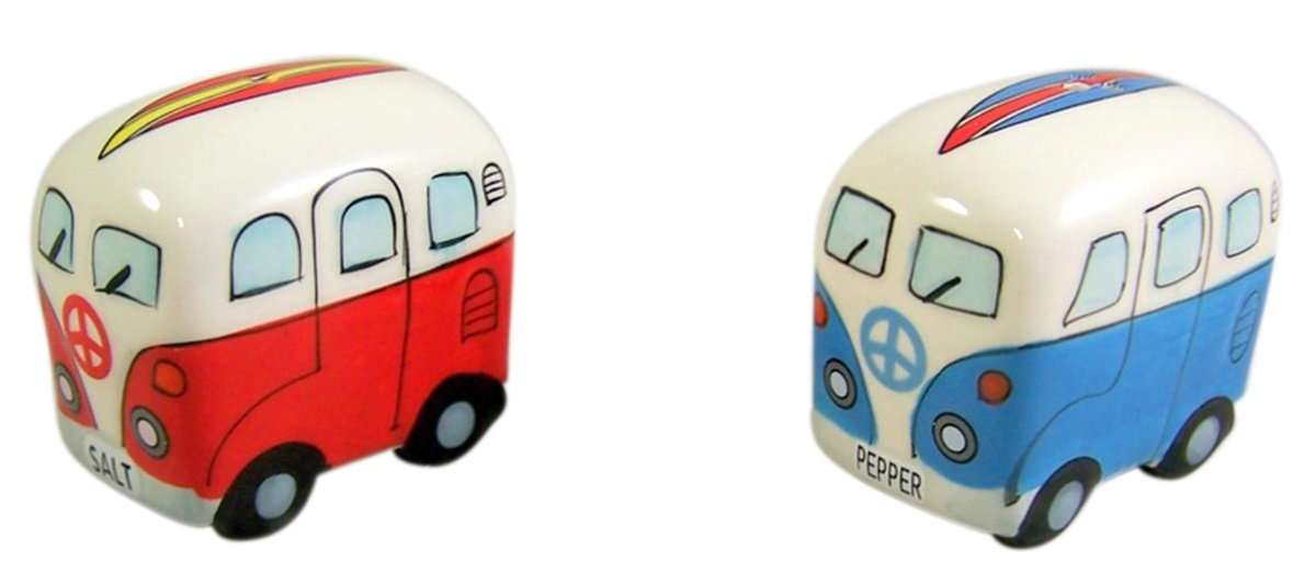 Surfer Van Salt and Pepper Shaker 2 1/2 Inch Chesapeake Bay