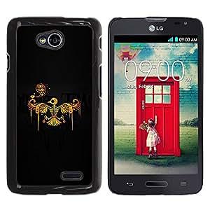 LECELL -- Funda protectora / Cubierta / Piel For LG Optimus L70 / LS620 / D325 / MS323 -- Phoenix Bird Skeleton Skull --