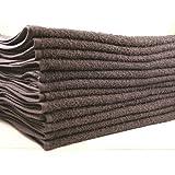 Beauty Threadz Premium 100% Luxurious Cotton Heavy Weight Salon Towels, Hand Towels, Gym & Spa Towels, 16'' L, 4 lb/doz, Charcoal Gray, (144)