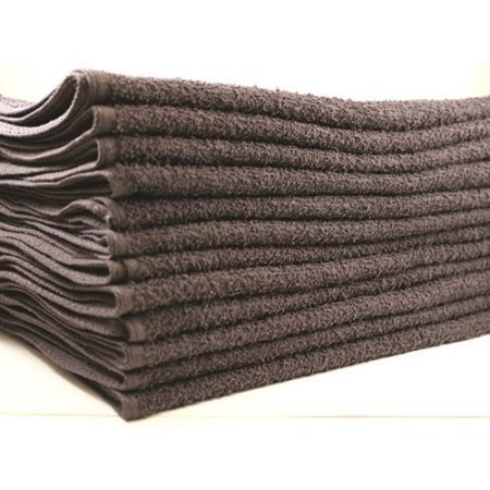 Beauty Threadz Premium 100% Luxurious Cotton Heavy Weight Salon Towels, Hand Towels, Gym & Spa Towels, 16'' L, 4 lb/doz, Charcoal Gray, (144)