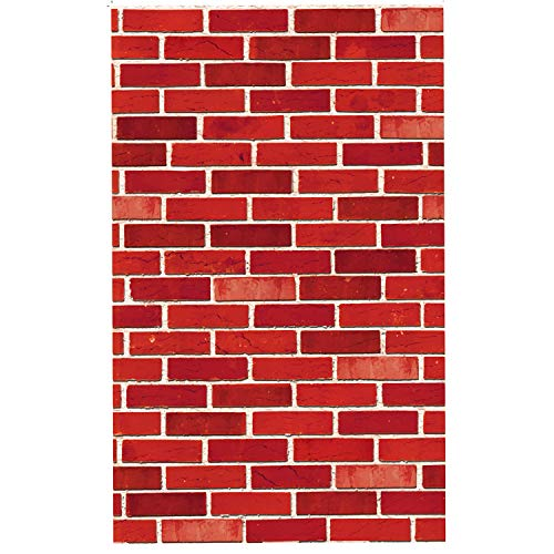 JOYIN Brick Wall Backdrop 4FT by 30FT Party Accessory Halloween Wall Decorations]()