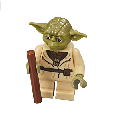 LEGO Star Wars Minifigure from Yoda's Hut - Yoda with Staff (75208): Toys & Games