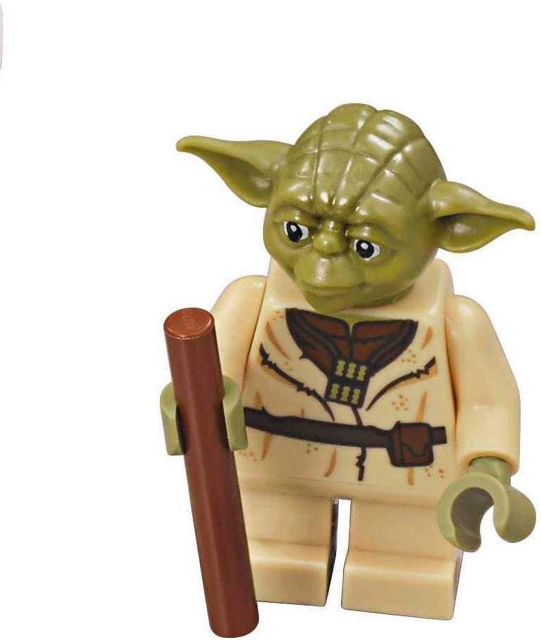 LEGO Star Wars Minifigure from Yoda's Hut - Yoda with Staff (75208)