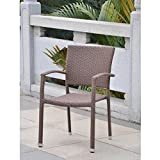 Cheap International Caravan Barcelona Patio Dining Chair In Brown (Set of 4)