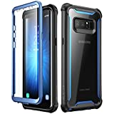 i-Blason, Samsung Galaxy Note 8 case,Full-body Rugged Clear Bumper Case with Built-in Screen Protector for Samsung Galaxy Note 8 2017 Release (Black/Blue)