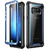 Samsung Galaxy Note 8 case,i-Blason [Ares Series] Full-body Rugged Clear Bumper Case with Built-in Screen Protector for Samsung Galaxy Note 8 2017 Release (Black/Blue)