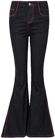 Pantalones Ropa Vaqueros para Mujer Negro Fino Cortos Cortos Casuales Algodón Elástico Grande Cuatro Estaciones De Vestir Mujer: Amazon.es: Hogar