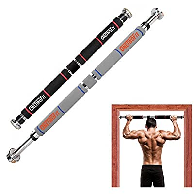 OneTwoFit Pull Up Bar Doorway Chin Up Bar Household Horizontal Bar Home Gym Exercise Fitness
